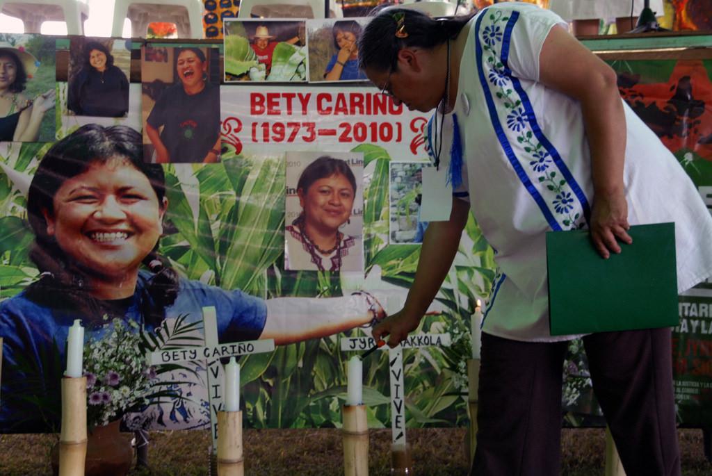 Acabar con la impunidad para Bety Cariño y Jyri Jaakkola