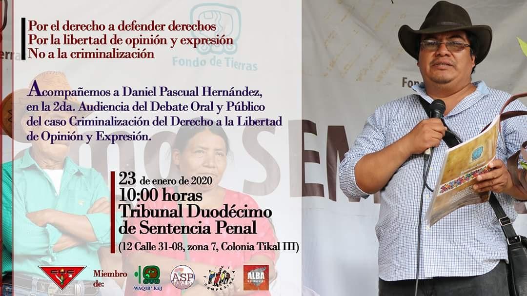 Criminalización del derecho a la libertad de opinión y expresión de Daniel Pascual Hernández