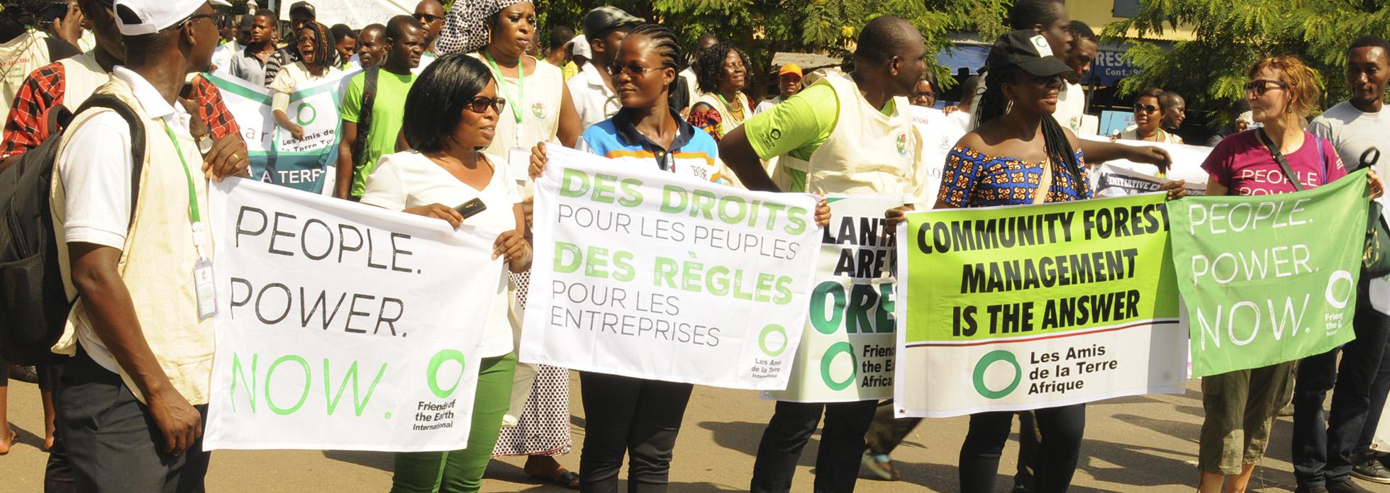 Amigos de la Tierra África en la Caravana de África Occidental por el Agua, la Tierra y las Semillas