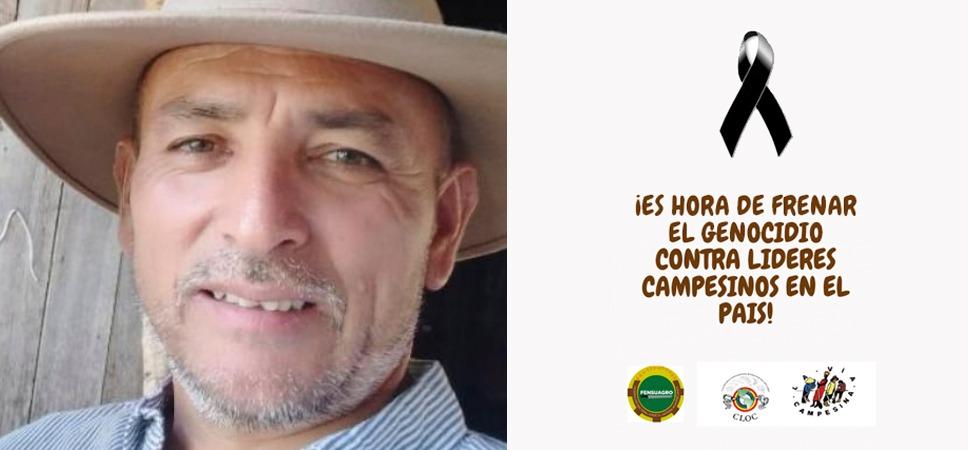 Familiares y organizaciones sociales exigen justicia y que aparezca el cuerpo del líder campesino colombiano Omar Moreno Ibagué