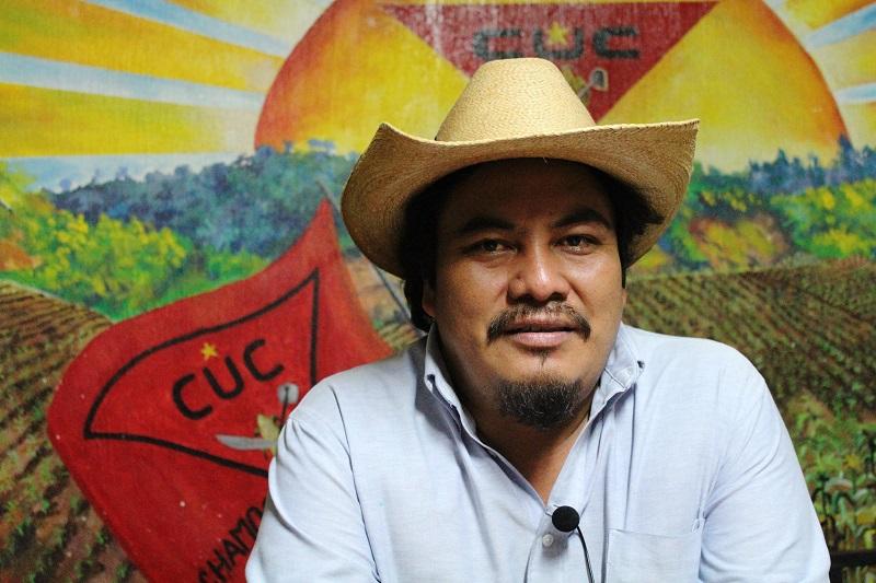 Daniel Pascual, dirigente Maya K'iche' está siendo acusado penalmente por dar declaraciones a la prensa