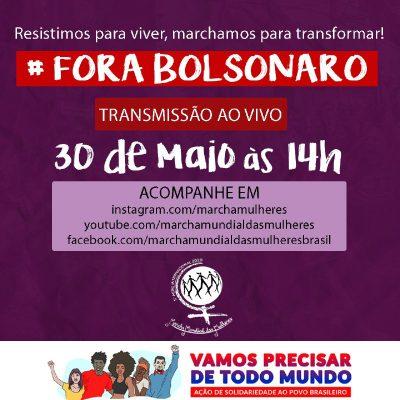 Fora Bolsonaro Marcha Mundial das Mulheres Brasil