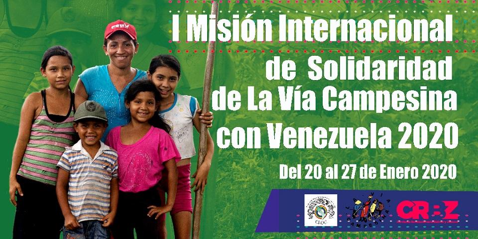 La Vía Campesina realizará Misión de Solidaridad en Venezuela