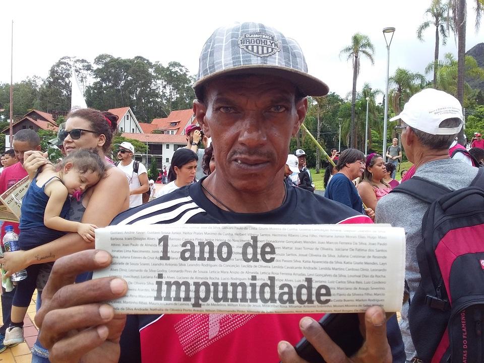 Afectados por Brumadinho se manifestaron ante tribunales de Minas Gerais