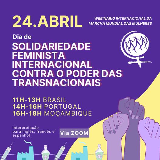 24 de abril: Día de Solidaridad Feminista Internacional Contra el Poder de las Empresas Transnacionales